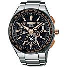 SEIKO精工 ASTRON 8X53 雙時區鈦GPS衛星定位手錶(SBXB125J)