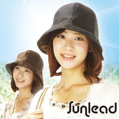 Sunlead 防曬輕量款。雙面雙色可戴抗UV遮陽帽 (黑色/棕色)