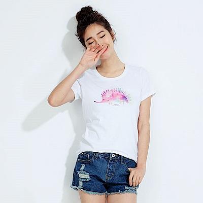101原創 美麗又帶刺 短袖T恤上衣-白