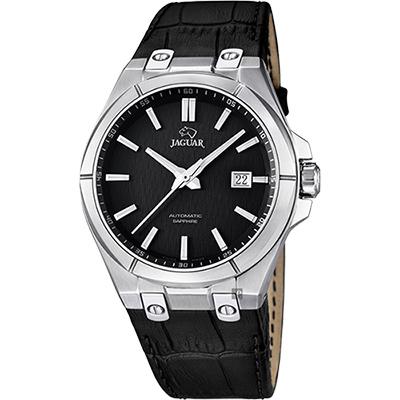 JAGUAR DAILY CLASS 經典機械錶-黑/44mm