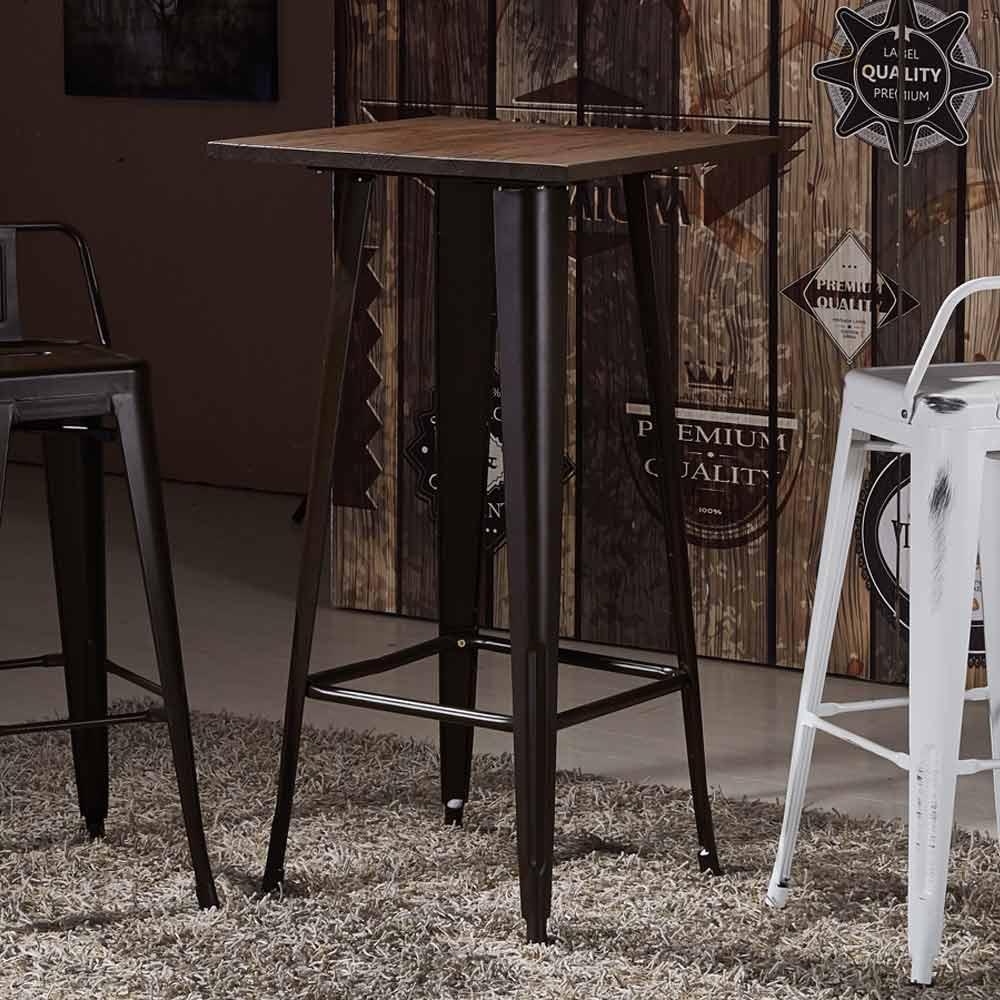 AT HOME - 韋恩 2 尺木面吧台桌 60x60x108cm