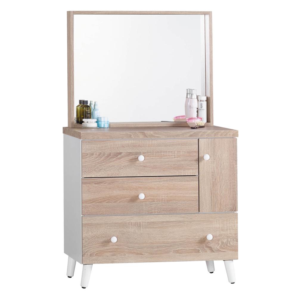 化妝鏡台 小北歐2.7尺 (不含椅) 愛比家具