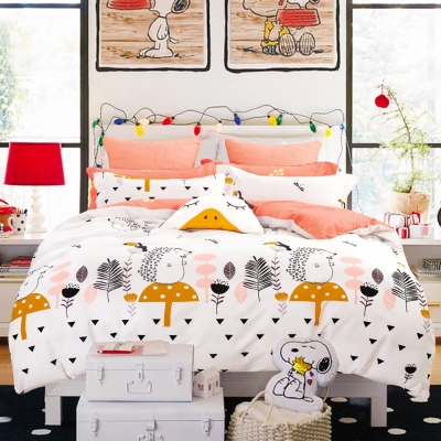 Ania Casa童心樂園 單人兩件式 100%精梳棉 台灣製 床包枕套純棉兩件組