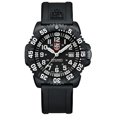 Luminox 海豹部隊指標系列經典腕錶-黑x白時標/44mm