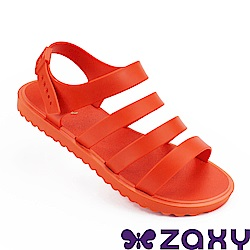 Zaxy 巴西 女 春日風采平底涼鞋-紅色
