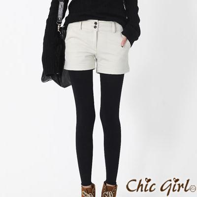 正韓 鋪棉保暖簡約休閒短褲 (共五色)-Chic Girl