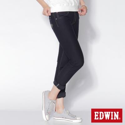 EDWIN 中直筒 迦績褲JERSEYS圓織牛仔褲-女-原藍色