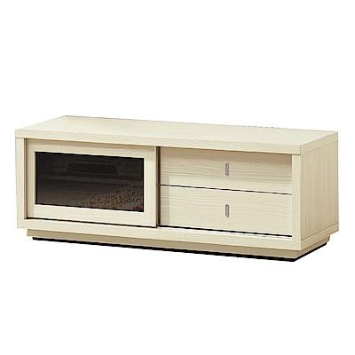 品家居 妮古拉4尺雪松木紋長櫃/電視櫃-121x45x45cm免組