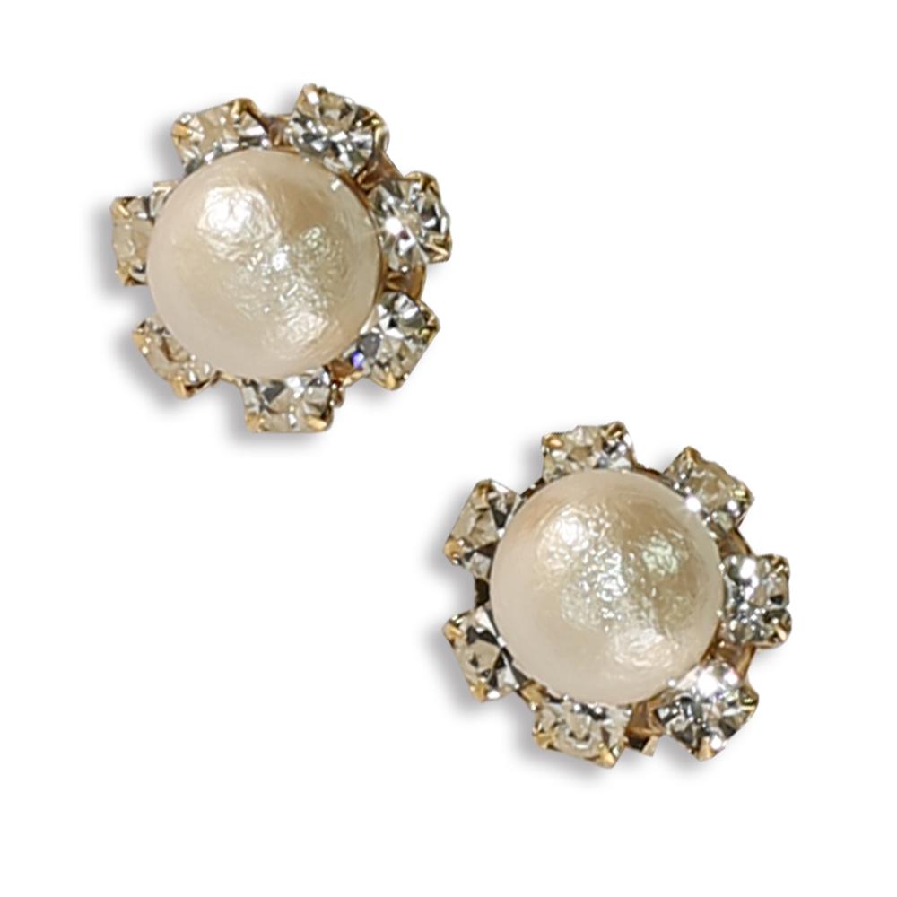 CARUTINA Snow White 系列水晶珍珠耳環