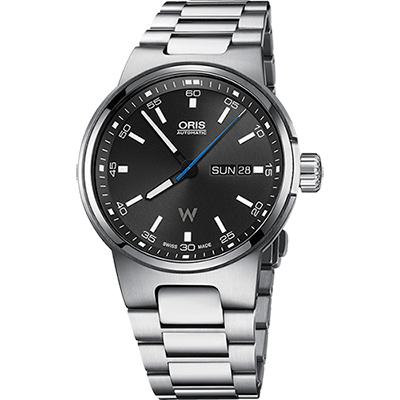 Oris Willimas F1賽車系列日曆星期機械錶-黑/42mm