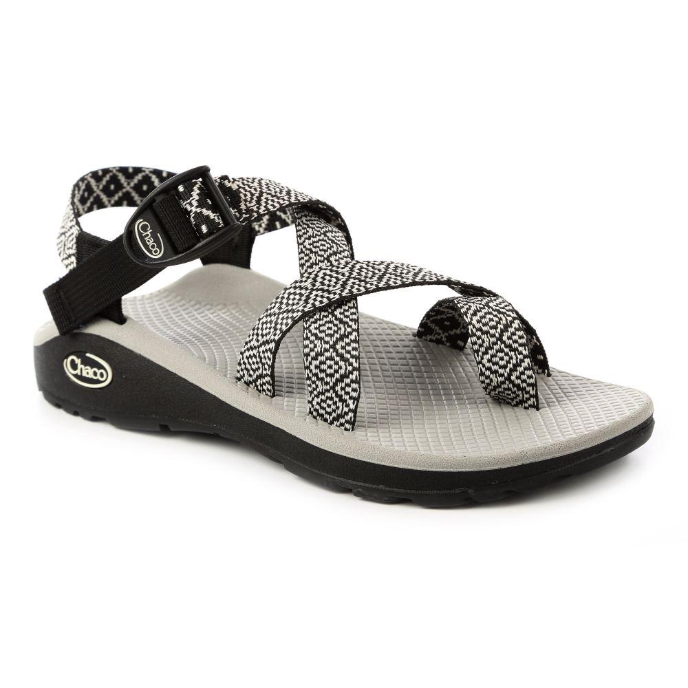 美國Chaco。女越野紓壓運動涼鞋夾腳款CH-ZLW02HD35 (黑白花彩)