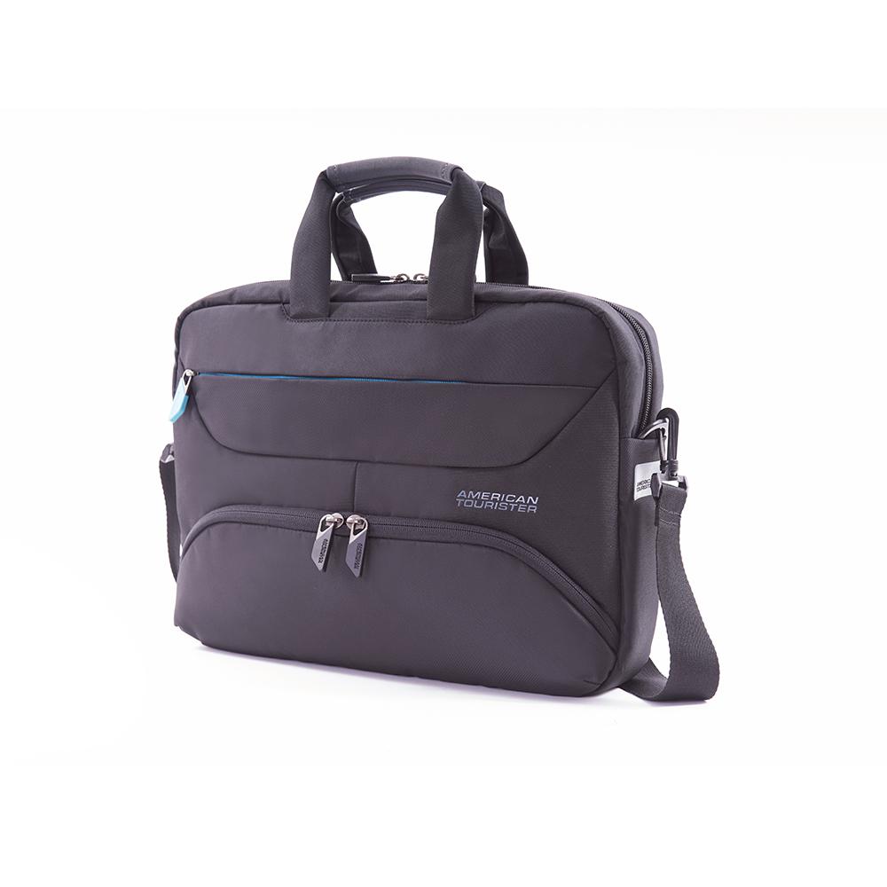 AT美國旅行者 Amber商務系列筆電收納包(灰藍)