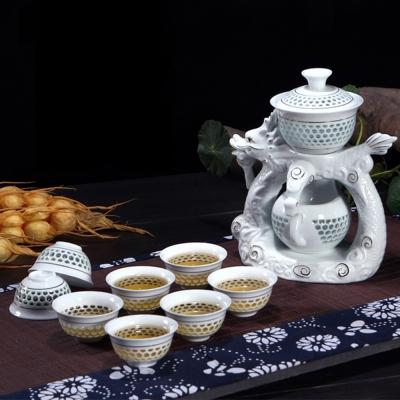 Pure 飛龍乘雲造型自動茶具10件組