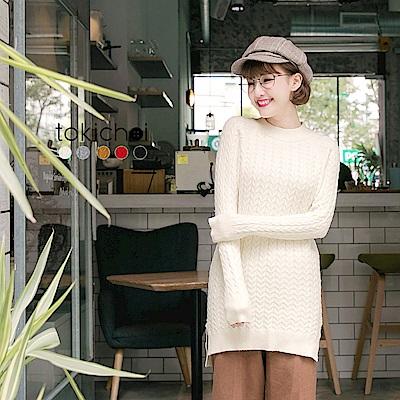 東京著衣 多色花紋感長版針織上衣(共五色)