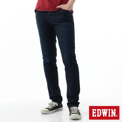 EDWIN AB褲 迦績褲格子內裏保溫褲-男-原藍磨