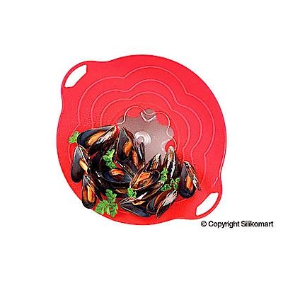 義大利製SiliKoMart專利防漏-聰明蒸煮鍋蓋(S)-紅