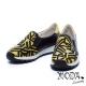 休閒鞋-MODA-Luxury-民族風編織布拼接牛