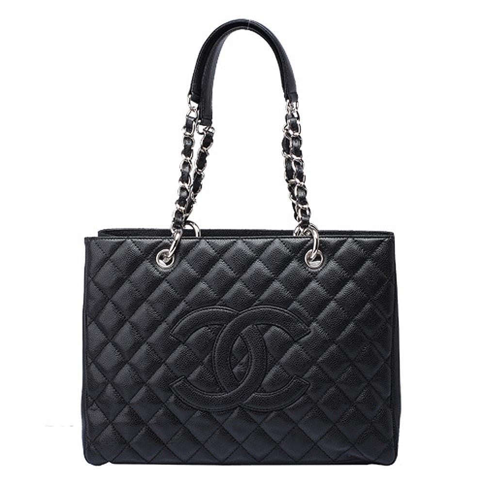 CHANEL 頂級精緻高優雅經典格紋側背包 (黑)