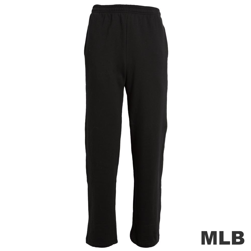 MLB-純棉縮口印花厚長褲-黑(男)