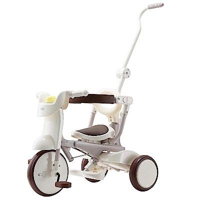 日本iimo #02 升級款 兒童三輪車(折疊款-白色)