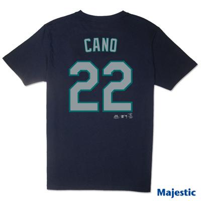Majestic-西雅圖水手隊CANO背號22號T恤-深藍