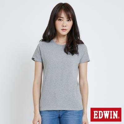 EDWIN 基本LOGO搭配短袖T恤-女-灰色
