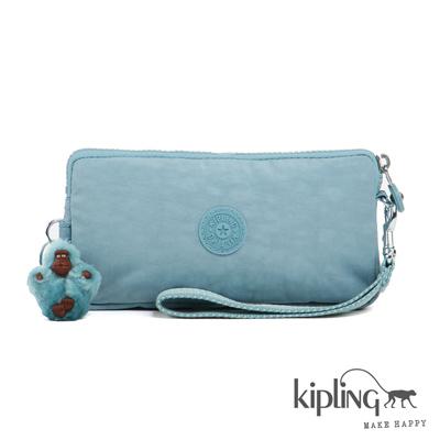 Kiplimg-掛繩零錢包-石灰藍素面