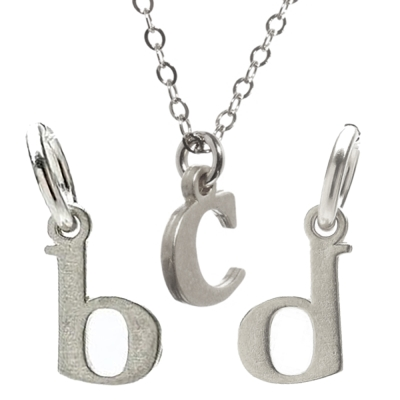 Dogeared 幸運字母 b c d 銀色許願項鍊 附原廠盒