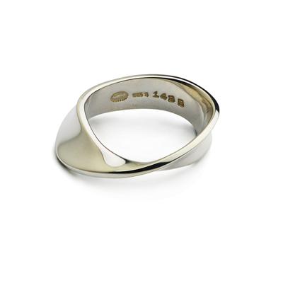 Georg Jensen Mobius #148 左手戒  純銀戒指