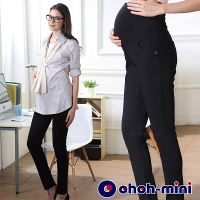 ohoh-mini 孕婦裝 OL美學經典百搭孕婦長褲-2色