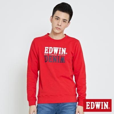 EDWIN EDWIN x DENIM長袖T恤-男-紅色