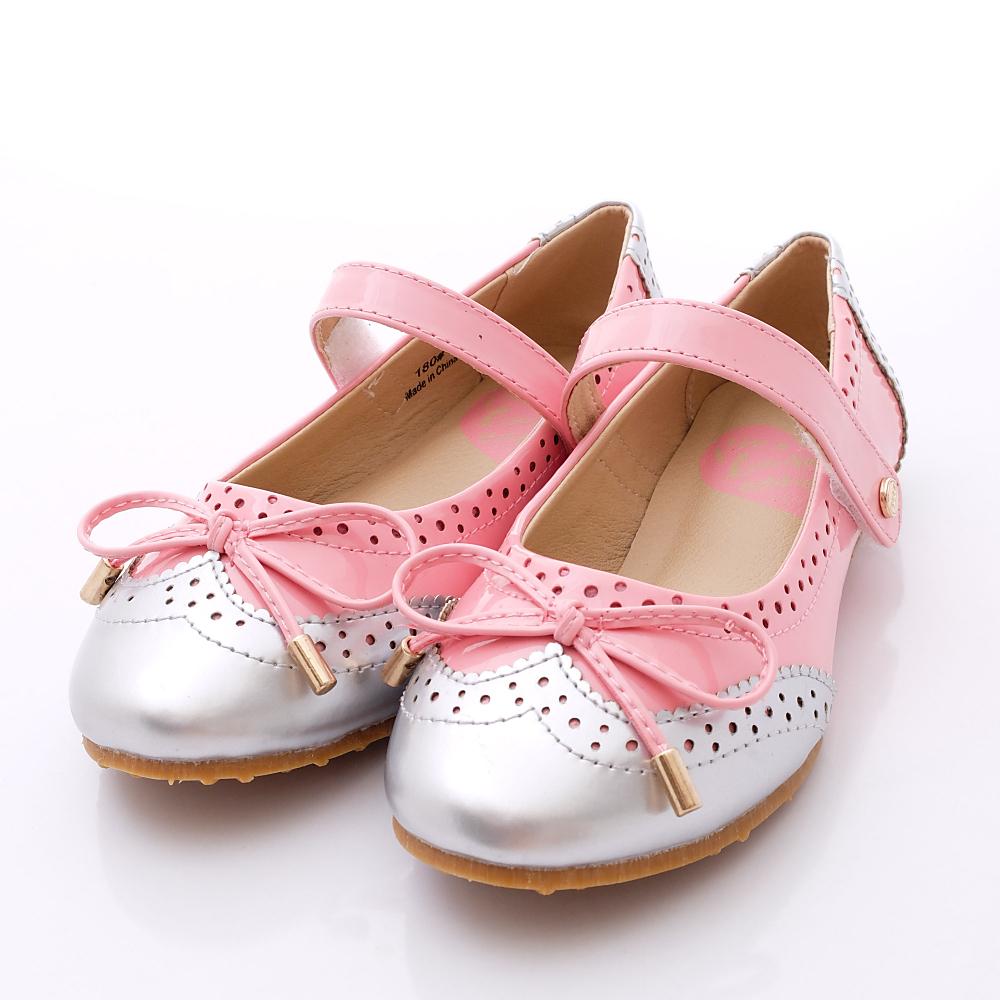 ELLE時尚童鞋-法式公主鞋款-P52733粉銀(中小童段)HN