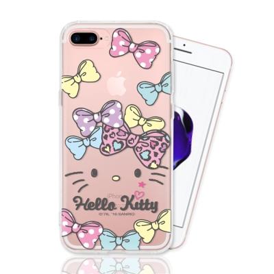 HELLO KITTY iphone 7 Plus 彩繪空壓手機殼-蝴蝶結