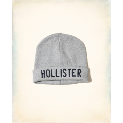 HCO Hollister 海鷗 經典刺繡文字毛帽-灰色