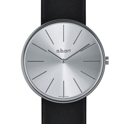 a.b.art DL 系列 簡約時尚設計師腕錶-銀/39mm