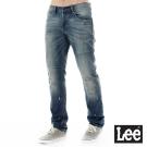 Lee 牛仔褲 726中腰標準小直筒刷色牛仔褲/101+男款-藍