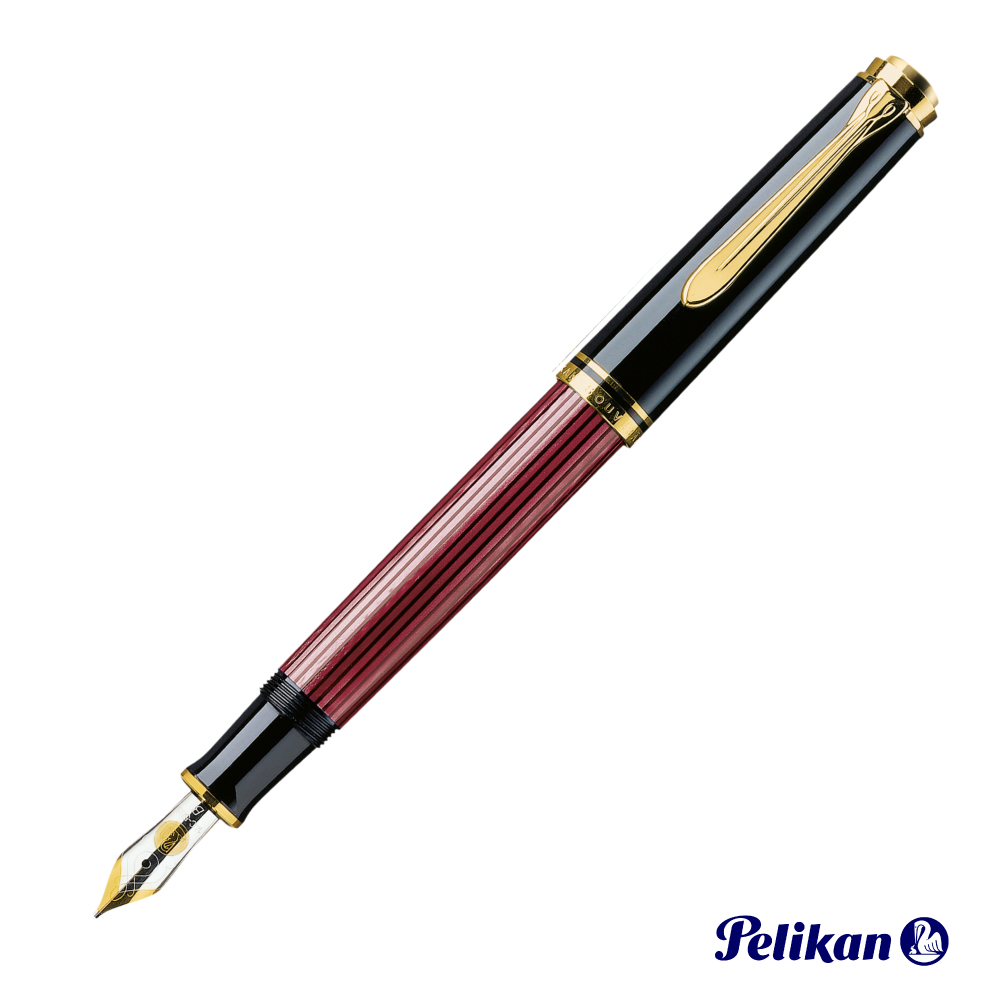 Pelikan 百利金 Souveran帝王 M600 紅桿金夾 鋼筆