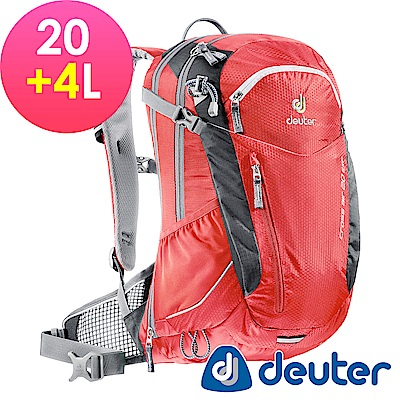 【ATUNAS 歐都納】德國DEUTER自行車網架包/運動登山背包32094紅黑
