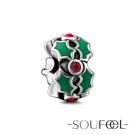 SOUFEEL索菲爾 925純銀珠飾 聖誕花環 定位珠