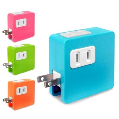 炫彩 SD-22U 2孔插座x2+雙USB埠 15A分接式插座