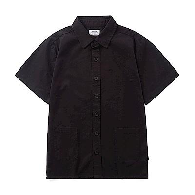 CACO-經典CACO-電繡字短袖襯衫-男【ONA085】