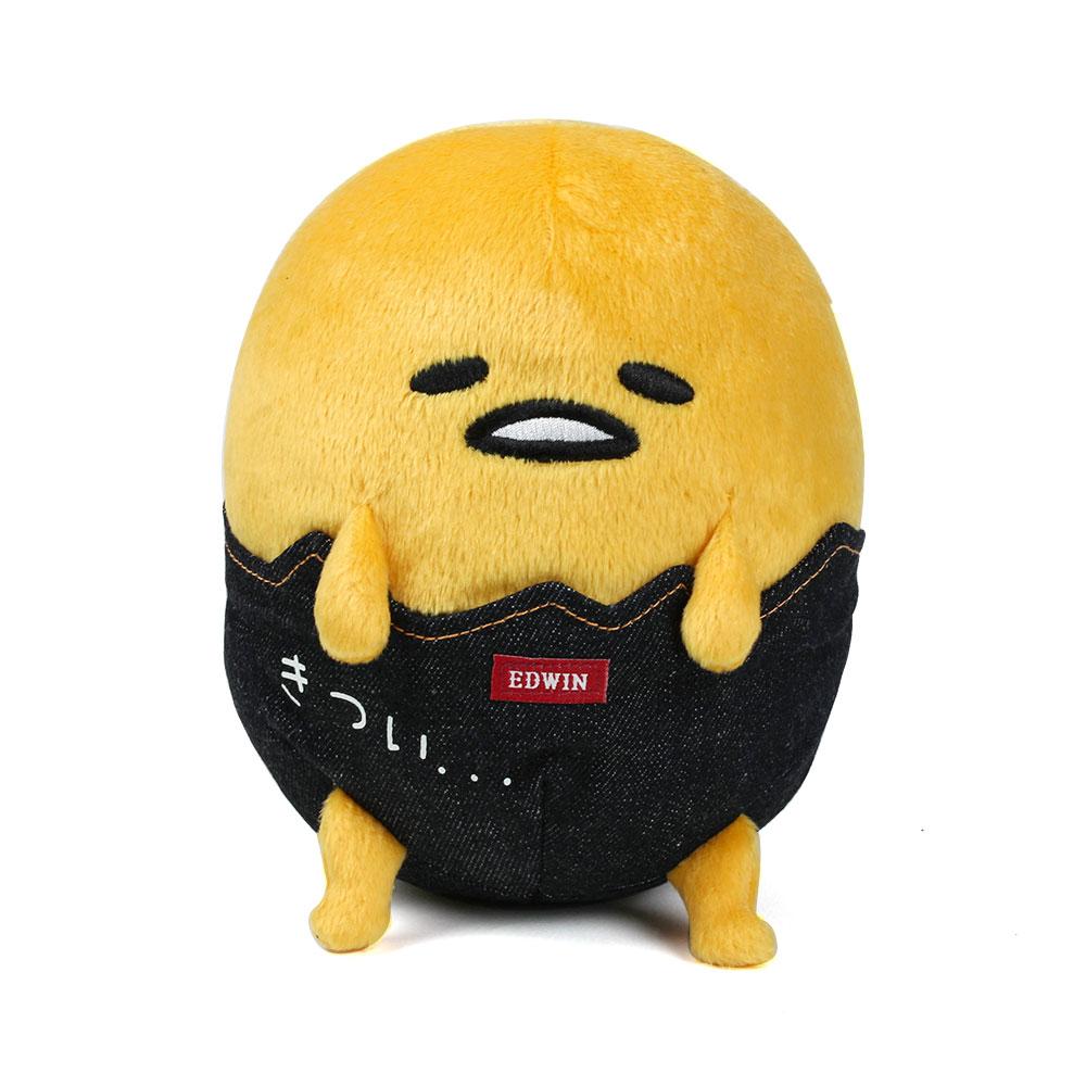 Sanrio 蛋黃哥 x EDWIN聯名 經典丹寧絨毛娃娃