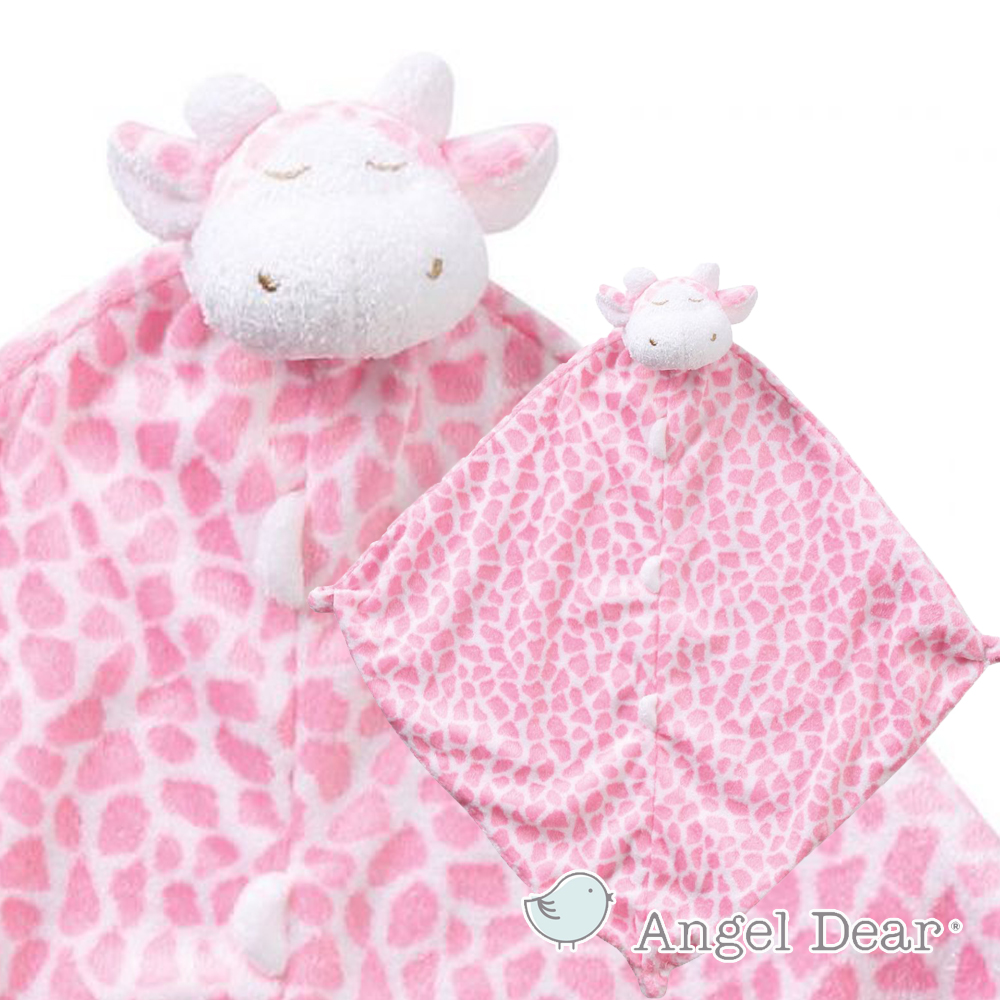 美國 Angel Dear 動物嬰兒安撫巾 (粉紅長頸鹿)
