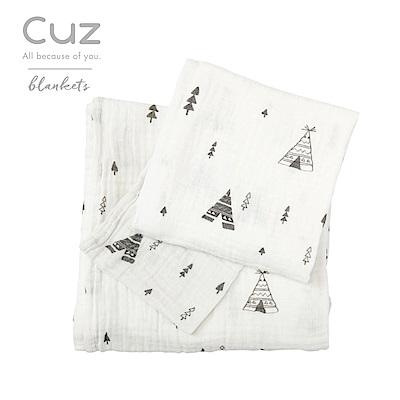 Cuz-三角森林(紗布巾)115cm