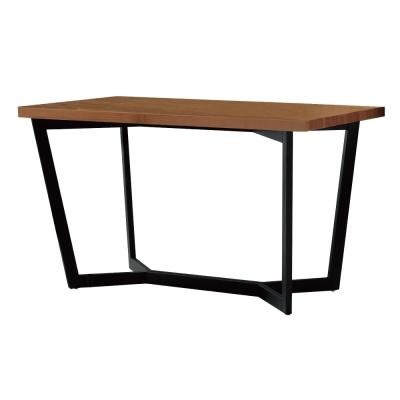 居家生活 班奈特4.3尺胡桃色黑腳餐桌