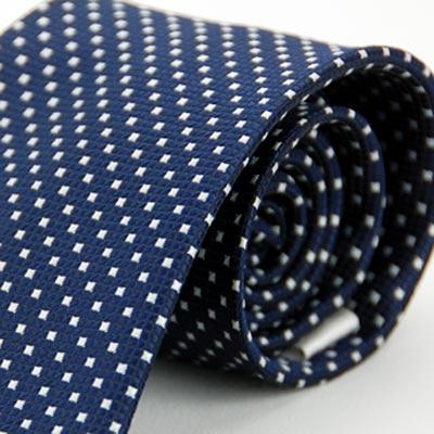 Alpaca 深藍底白方格紋領帶