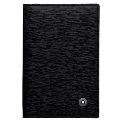 萬寶龍-4810系列-水波紋小牛皮名片夾-黑色