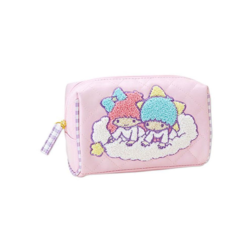 Sanrio 雙星仙子PU材質菱格化妝包(毛巾繡)