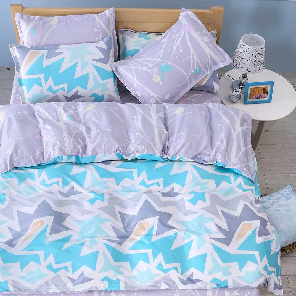 Ania Casa    台灣製 超厚美肌磨毛 - 加大床包被套四件組- 簡尚