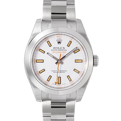 ROLEX 勞力士 MILGAUSS 116400 閃電秒針高抗磁機械錶-白/40mm